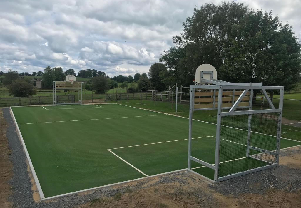 Dunkerrin National School artificial grass MUGA