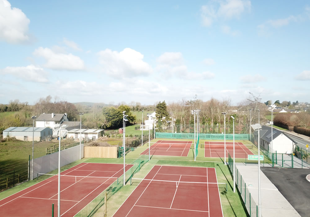 Hospital tennis club - artificial grass tennis courts
