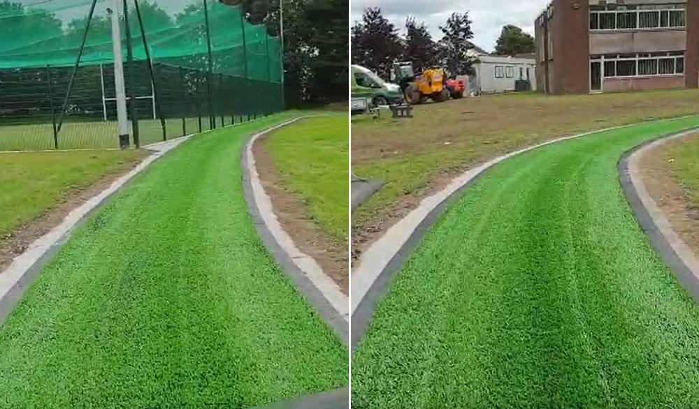 artificial grass walking track at St Marks Senior National School Tallaght