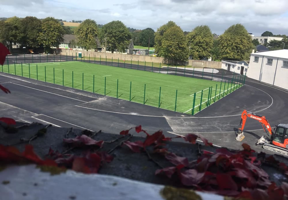 Artificial grass playing surface at St Brendan's College Killarney