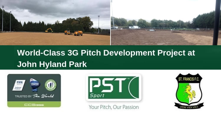St Francis FC pitch construction