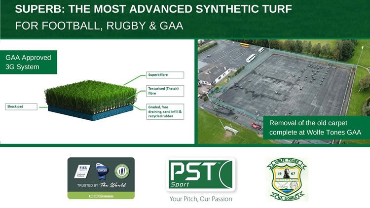 Wolfe Tones GAA new synthetic turf pitch