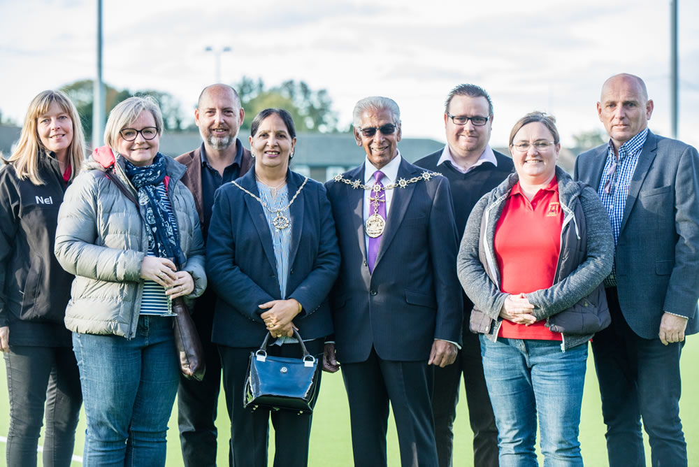 Official opening of hockey pitch at Gravesham & Wellcome Hockey Club