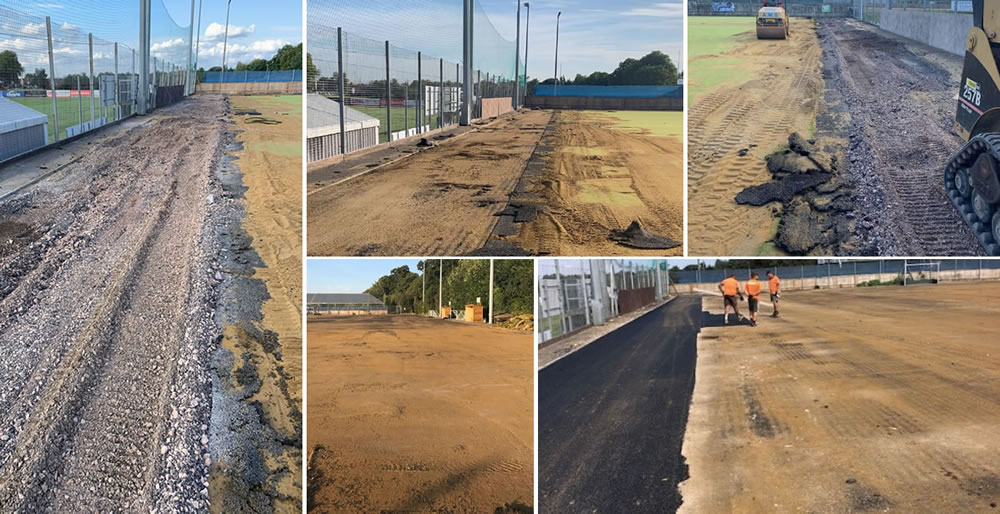 artificial turf hockey pitch subbase remedial works