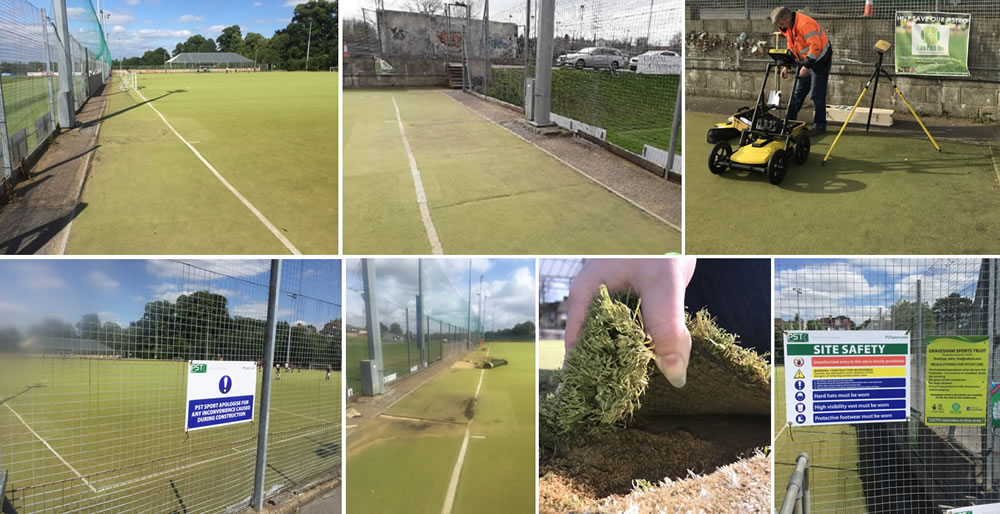 subsiding hockey pitch subbase defects