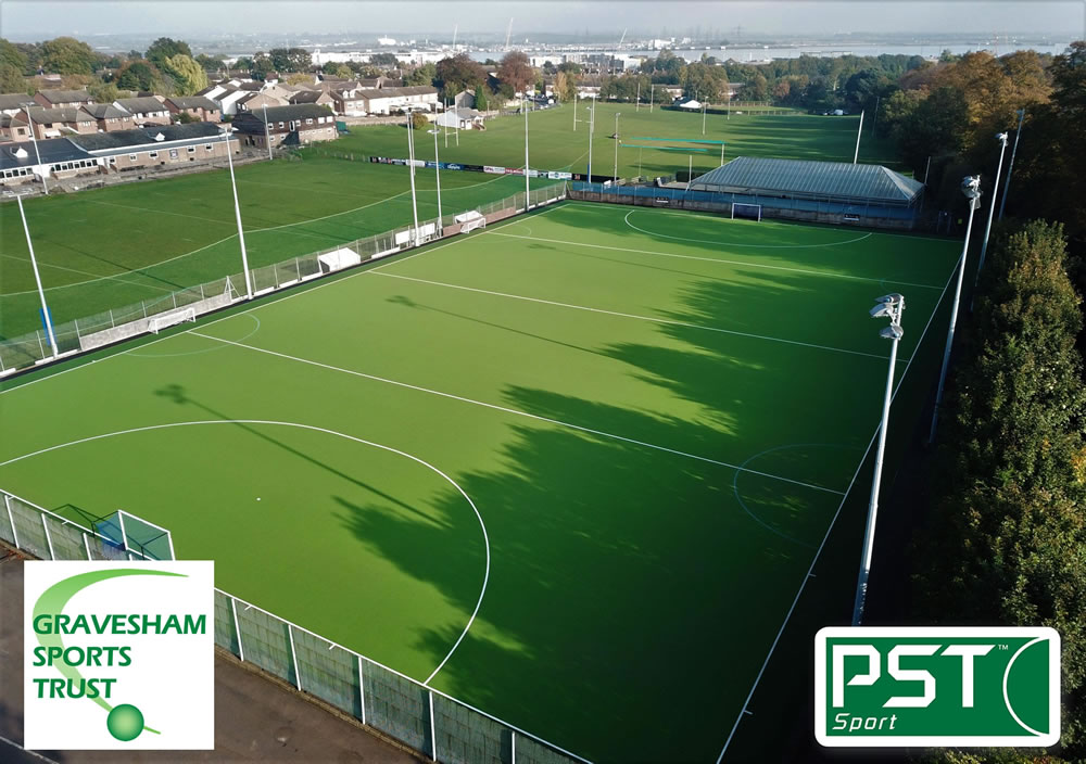 hockey pitch resurface for Gravesham Sports Trust
