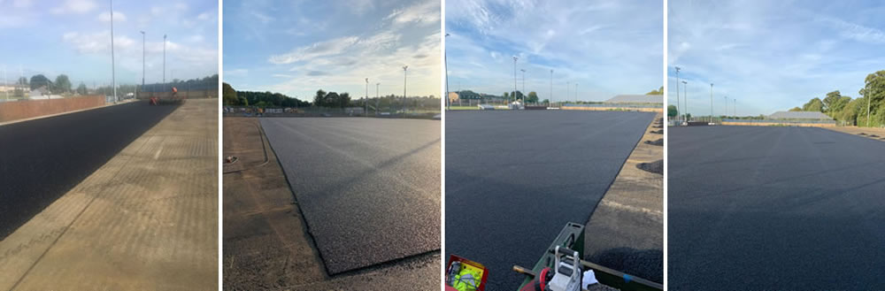 in-situ shock pad installation for artificial grass hockey pitch