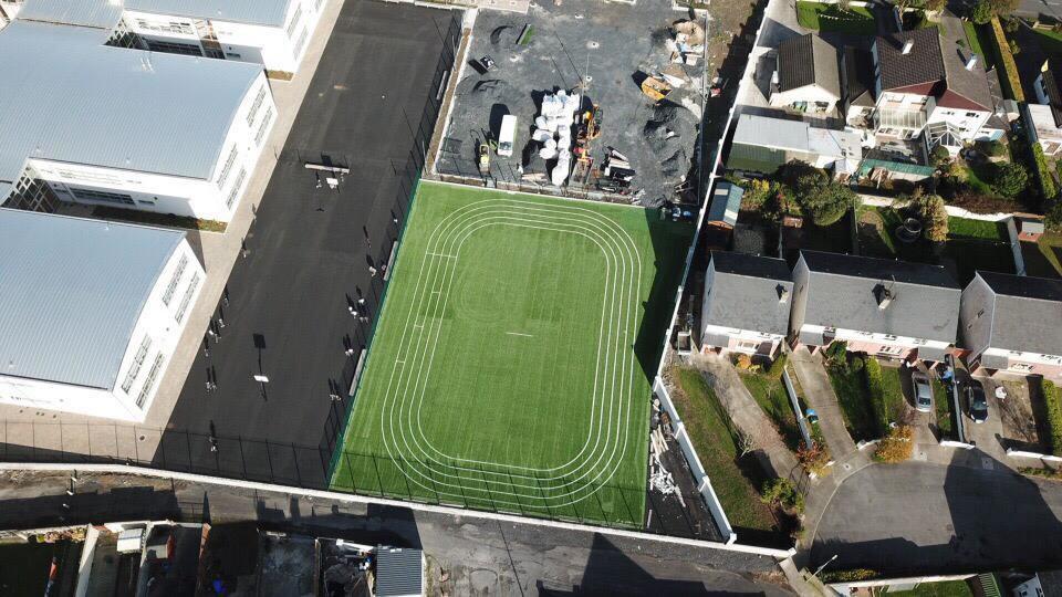 artificial grass pitch development project at Sixmilebridge National School