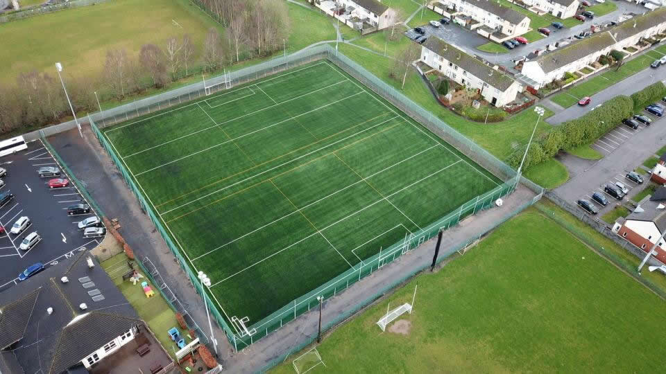 Wolfe Tones na Sionna GAA artificial grass GAA pitch