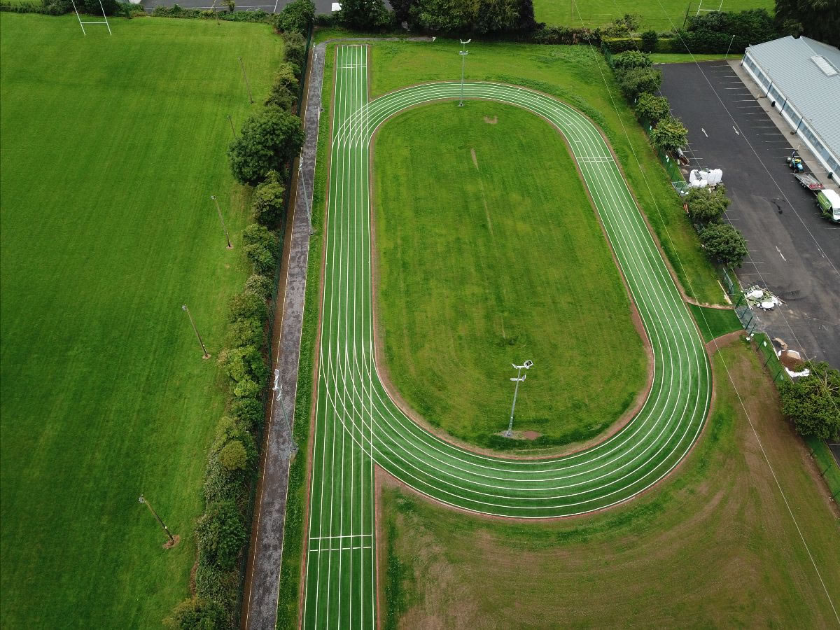 Artificial grass athletic track - 2019 installation