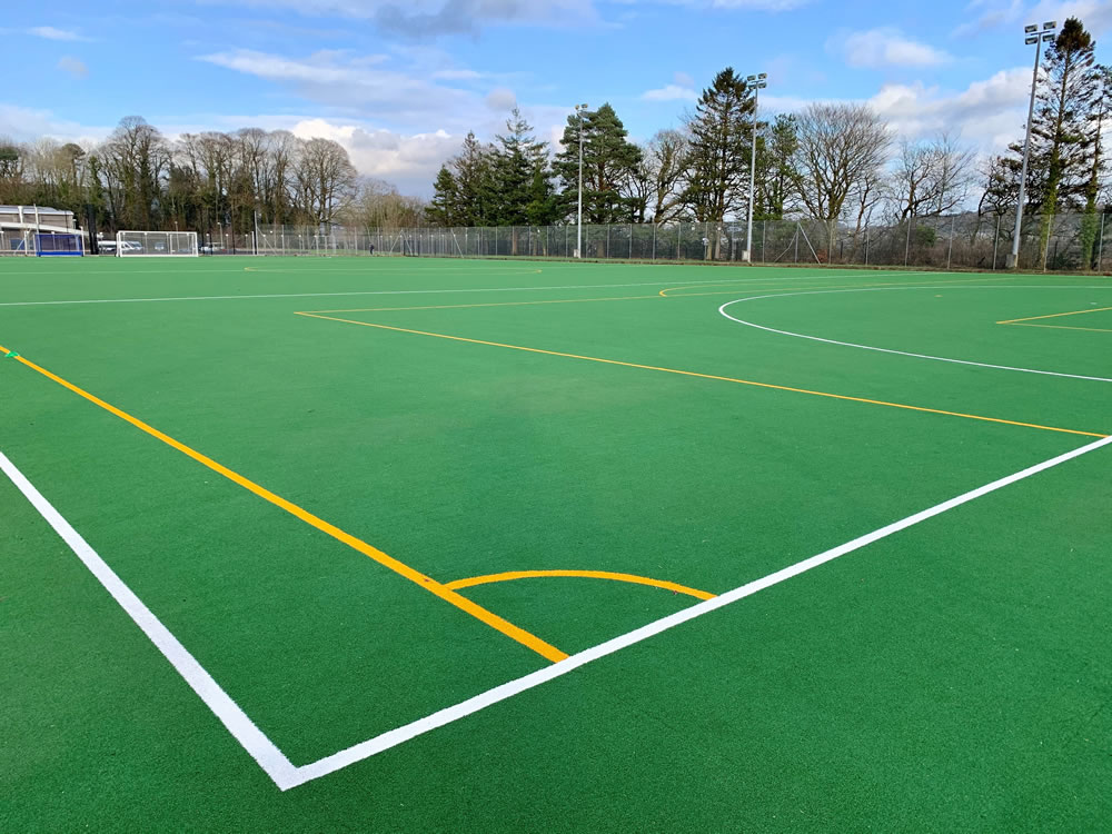 Carmarthen Leisure Centre hockey pitch resurface