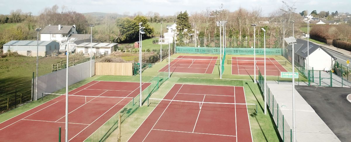 Artificial grass tennis courts at Hospital Tennis Club - 2019 Installation