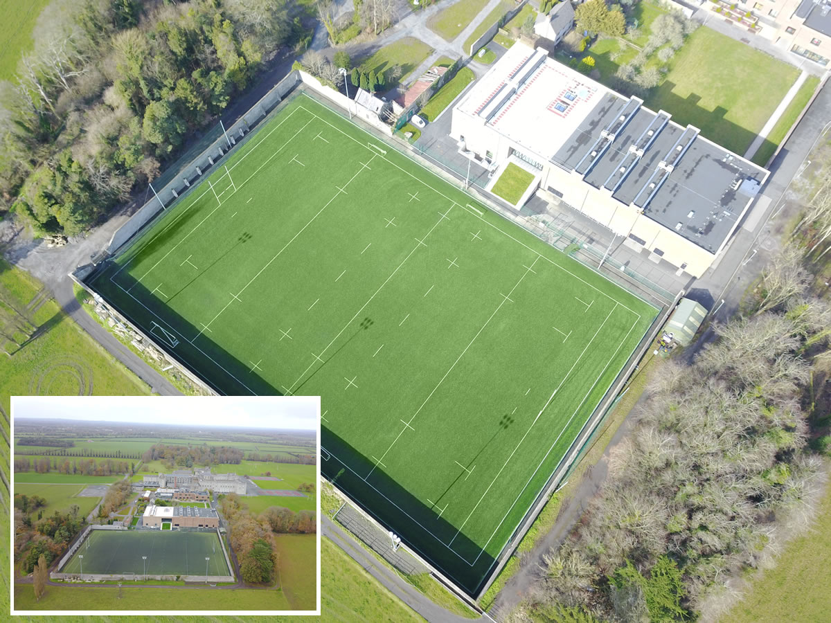Astro turf rugby pitch at Clongowes Wood College