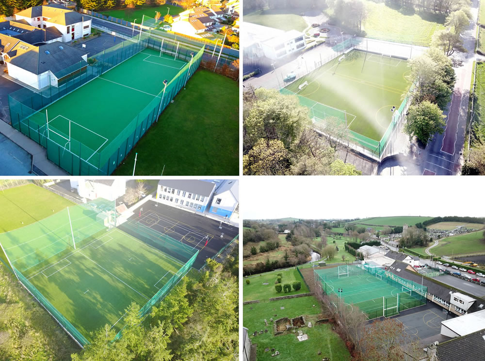 artificial grass multi sport pitches