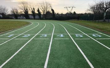 artificial grass running track