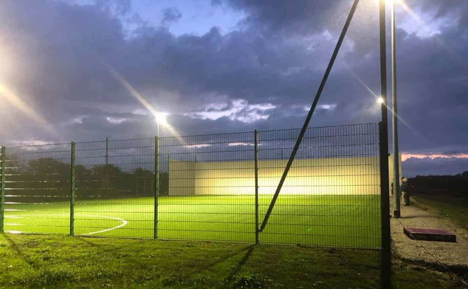 Artificial grass hurling pitch at Ballyduff GAA