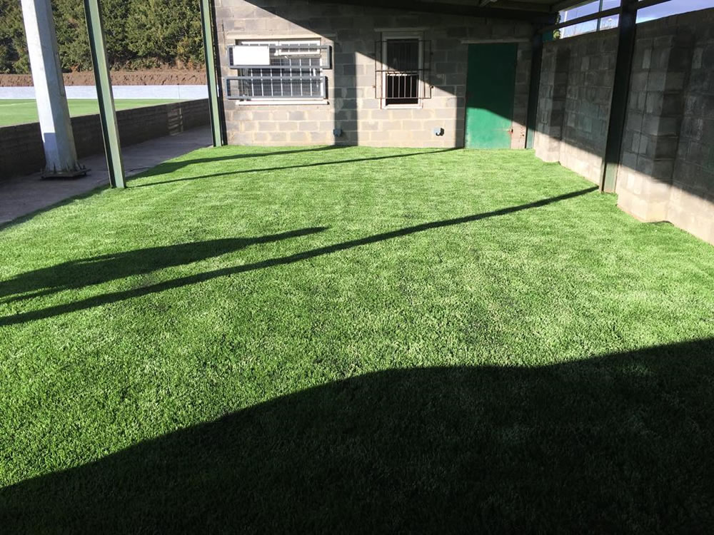 Artificial grass warm up area at St Francis FC