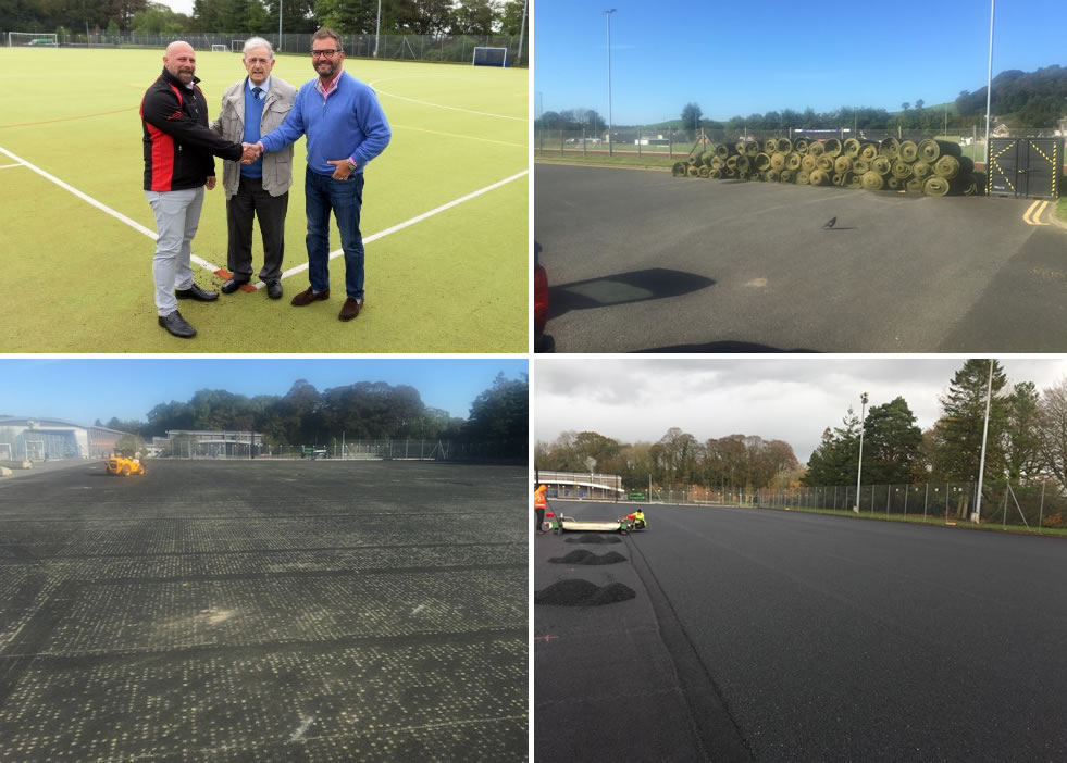 Reconstructing a 15 year old artificial grass hockey pitch