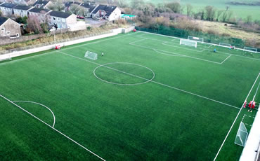 Astro turf pitch at Ballea Park