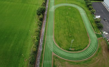Artificial grass running track at Clane AC