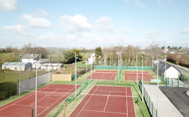 artificial grass tennis courts at Hospital Tennis Club, Co. Limerick
