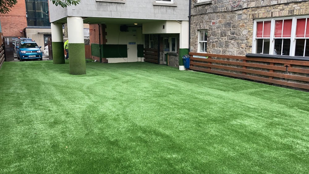 John Scottus NS artificial grass play area