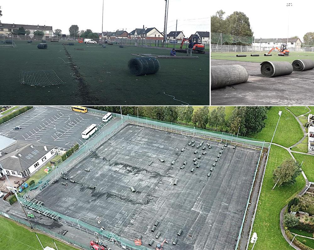 Wolfe Tones GAA astro turf pitch construction progress