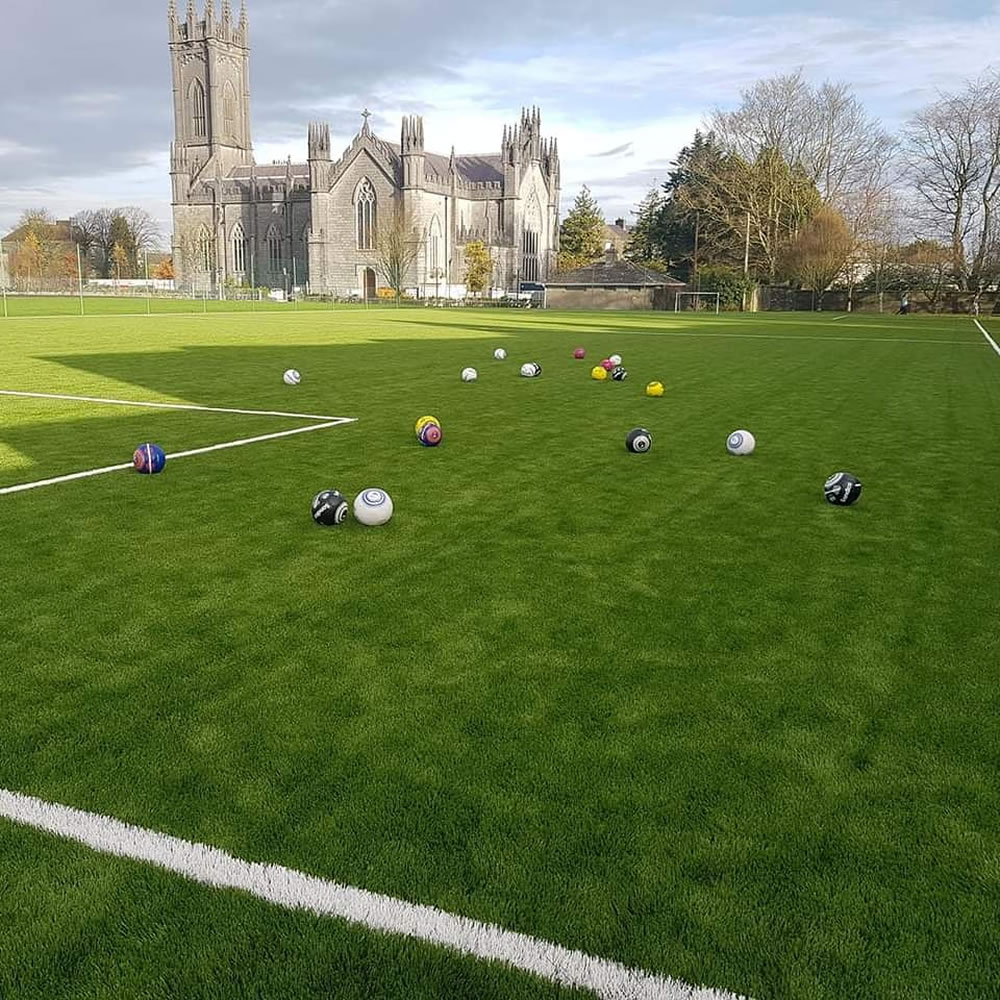 Artificial grass pitch at Scoil Bhríde Mercy Secondary School In Tuam, County Galway