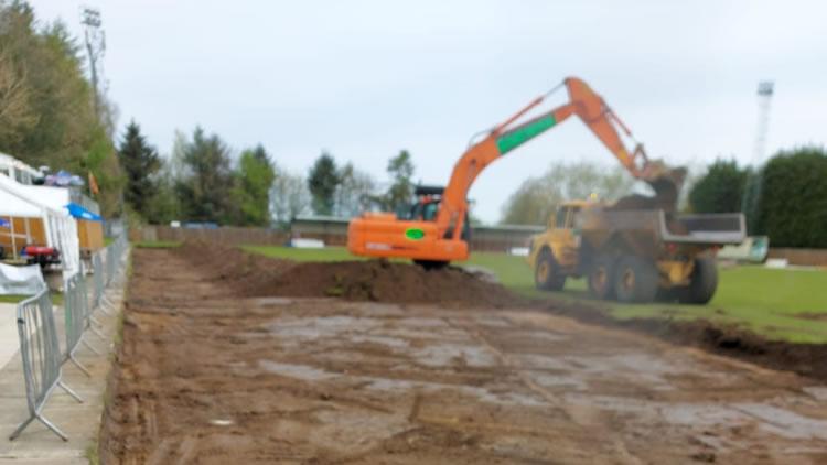 Craik Park, Morpeth - 3G pitch construction