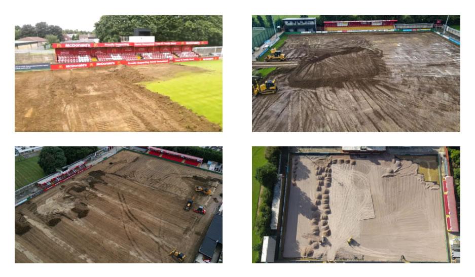 Hemel Hempstead Town FC Groundworks for 3G Pitch