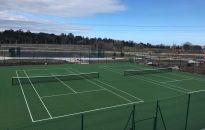 Artificial grass tennis courts at Beckett Park, Dublin