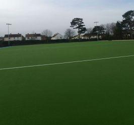 FIF standard synthetic grass hockey pitch at Sullivan Upper School