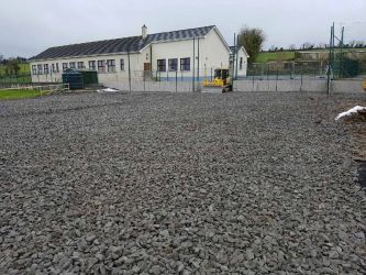 Killyconnan Sports Ground - groundworks stage of project