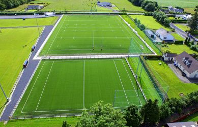 Full size artificial grass pitch and synthetic grass training pitch at Mullingar RFC