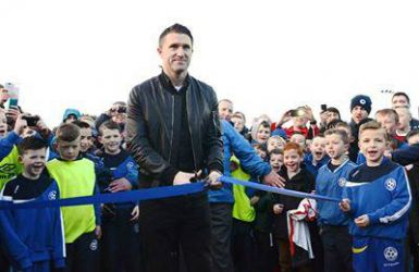 Robbie Keane at official opening of Crumlin United FC