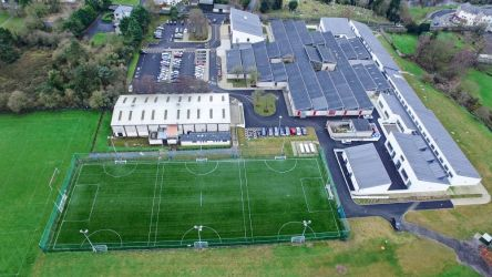 Floodlights at Tullow Community College