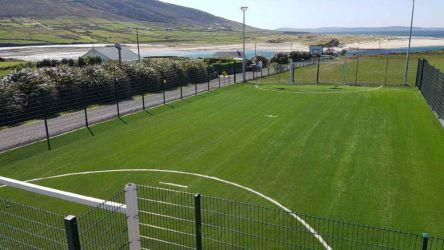Artificial Grass Pitch at Colāiste Chomāin Rossport